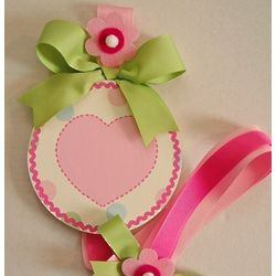 Hand Painted Valentine Heart Hair Bow Wall Holder