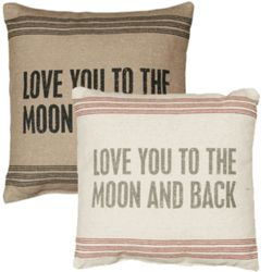 Love You to the Moon and Back Vintage Sack Pillow