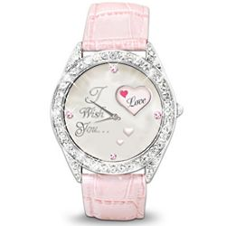 My Daughter, I Wish You Love Crystal Rotating Watch