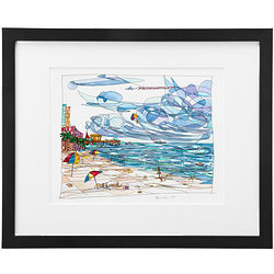 Two By The Sea Framed Art Print