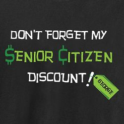 Personalized Senior Citizen Discount Birthday T-Shirt
