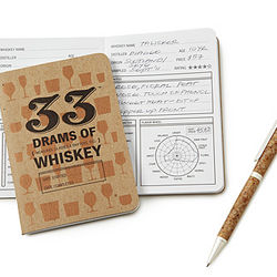 Whiskey Tasting Notebook and Pen Set