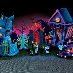 Tim Burton's the Nightmare Before Christmas Black Light Village
