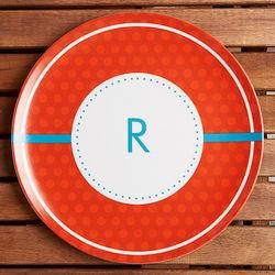 Polka Dot Fun Personalized Melamine Plate