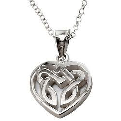 Celtic Heart Charm Necklace