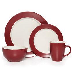 Red Dinnerware Set