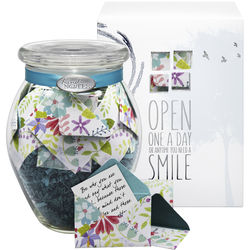 'Fresh Cut Floral' Jar of Messages in Mini Envelopes