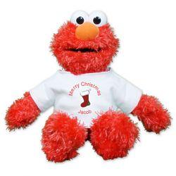 Personalized Christmas Plush Elmo