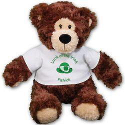 Personalized Luck of the Irish Teddy Bear Stuffed Animal