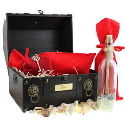 Loves Treasure Chest Message Gift Bottle