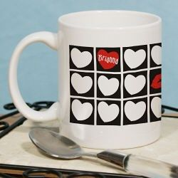 Kissing Hearts Valentine Coffee Mug