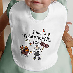 I Am Thankful For You Infant Bib