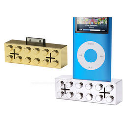 Metallic iPod Building Block Speakers