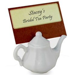 Porcelain Teapot Place Card Holder