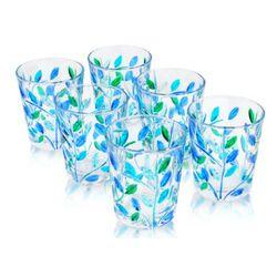 Sospiri Blue Hand Decorated Murano Shot Glass Set