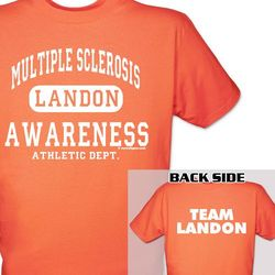 Personalized Multiple Sclerosis Awareness Athletic Dept. T-Shirt