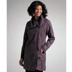 Black and Grape Reversible Raincoat