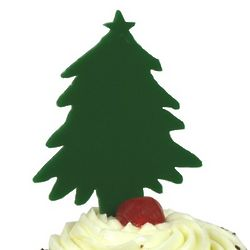 Christmas Tree Cupcake and Cake Topper