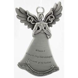 Engravable Count Blessings Pewter Ornament
