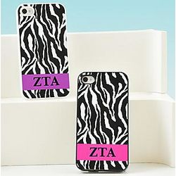 Greek Zebra Print Personalized iPhone Case
