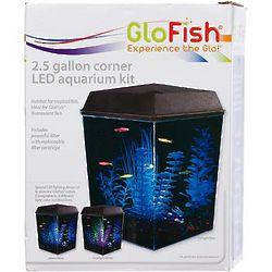 GloFish 2.5 Gallon Corner LED Aquarium Kit