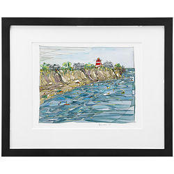 The Cape Framed Watercolor Painting