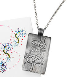 Sterling Silver Synapse Necklace