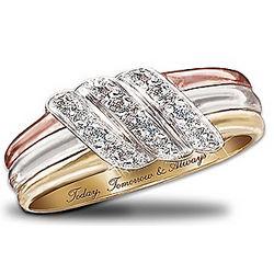 Today, Tomorrow, Always 10 Karat Gold Diamond Ring