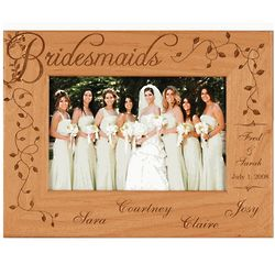 Personalized Bridesmaids Alderwood Frame
