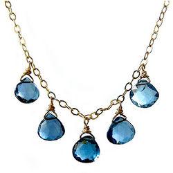 London Blue Topaz Teardrop Necklace