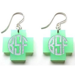 Cambridge Monogram Dangle Earrings