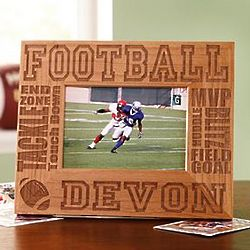 Personalized Wood Sports 3.5x5 Frame