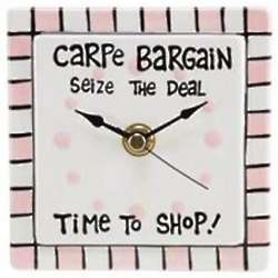 Carpe Bargain Seize the Deal Clock