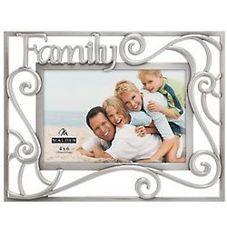 Pewter Scroll Family Picture Frame