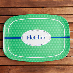 Polka Dot Fun Personalized Melamine Platter