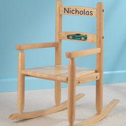 Kid's Our Chair Rocks Personalized 2-Slat Rocker