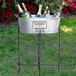 Personalized Eat Drink and Be Married Beverage Tub