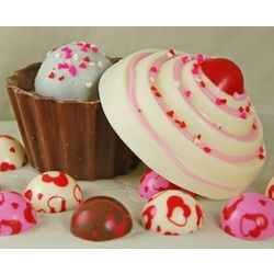 Hand-Decorated Candied Truffle Cupcake