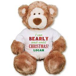 Christmas Alfie Teddy Bear