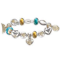 Jacksonville Jaguars Charm Bracelet with Swarovski Crystals