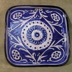 Blue Blazes Ceramic Platter