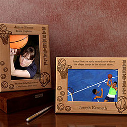 Personalized Basketball Wooden Picture Frame