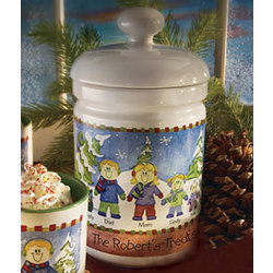 Winter Family Cookie Jar