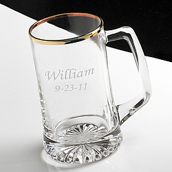 Personalized Gold Rimmed 25 Oz. Sports Mug