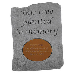 Personalized 'This Tree Planted in Memory Of' Memorial Stone