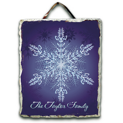 Personalized Let it Snow Slate