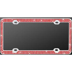 Chrome Triple Red Diamond License Plate Frame