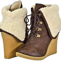 Natasha Brown Faux Suede Women Ankle Boots