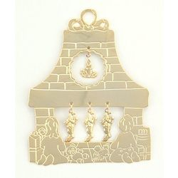 Personalized Fireplace Christmas Ornament