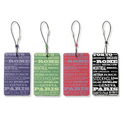 Around the World Luggage Tag